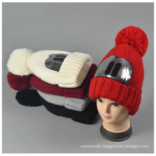 Womens Winter Warm Knitted Outdoor Squins Attached Hat Beanie (HW155)