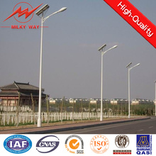 Polonais galvanisé conique de poteau d'énergie solaire de rue