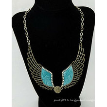 Hot Sale Angel Wings Collier Bijoux Fashion Pearl Necklace FN94