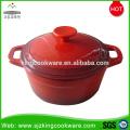 Cocotte ronde en fonte rouge saine de haute qualité