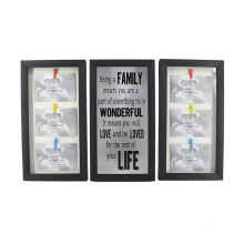 Black Plastic Frame Set for Home Decoration