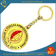 Customized Logo Promotional Soft Enamel Adicionar Epoxy Metal Gold Chaveiro Da China