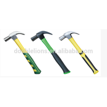 one piece claw hammer with double color handlele