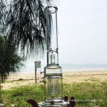 Три слоя очистительной конструкции Стеклянные курительные трубки для воды (ES-GB-273)