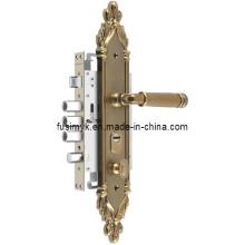 La última manija de puerta de cobre amarillo de la antigüedad del diseño (FA-6122XX)