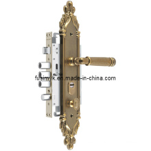 Latest Design Antique Brass Plating Door Handle (FA-6122XX)