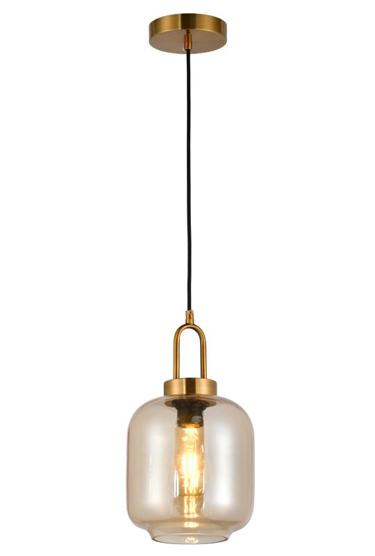 Glass Indoor Amber Lamp