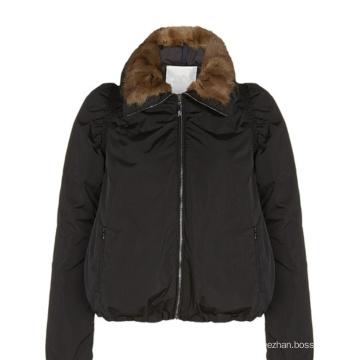 alibaba express nuevo diseño Apoyo de personalización mujeres chaqueta de invierno de espesor