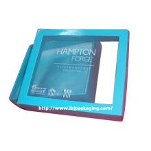 Caja de papel de embalaje de regalo de vajilla de alta calidad con ventana de plástico