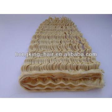 lumière blonde vague profonde trame de cheveux humains