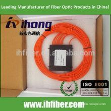 Alta qualidade 1 * 8 Multimodo FBT fibra óptica splitter SC ST FC Connector OM1 / OM2 / OM3