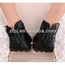 Best seling tight genuine leather ladies flower pattern glove