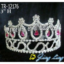 Red Round Custom King And Queen Crown