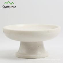 Support ou assiette à fruits et à gâteaux en marbre naturel