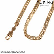 43348 xuping pesado fazer jóias suprimentos atacado fio de seda cadeias de ouro colar para homens e mulheres