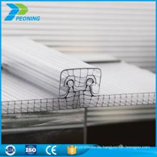 Anti-Kratzer-Verriegelung Design-Struktur Multiwall-System Polycarbonat u-lock Blatt