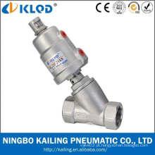 """Válvula de radiador angular de 1 """"Atuador de aço inoxidável e conexão de rosca de corpo KLJZF-1"""" SS"""