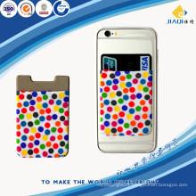 Support de carte de téléphone mobile en silicone collant lycra