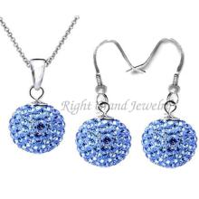 Shamballa ensembles de bijoux boucles de strass Shamballa boucles d'oreilles Stud & collier pendentif