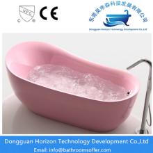 Elegant acrylic pink bathtub
