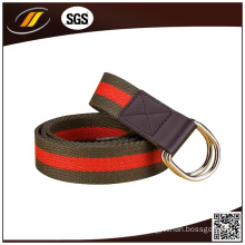 Double D-Ring Buckle Canvas Casual Belt Webbing Fabric Belts