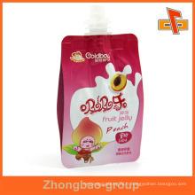 Emballages alimentaires liquides imprimés et imprimés avec bec verseur pour huile de cacao 300 ml 400 ml 500 ml