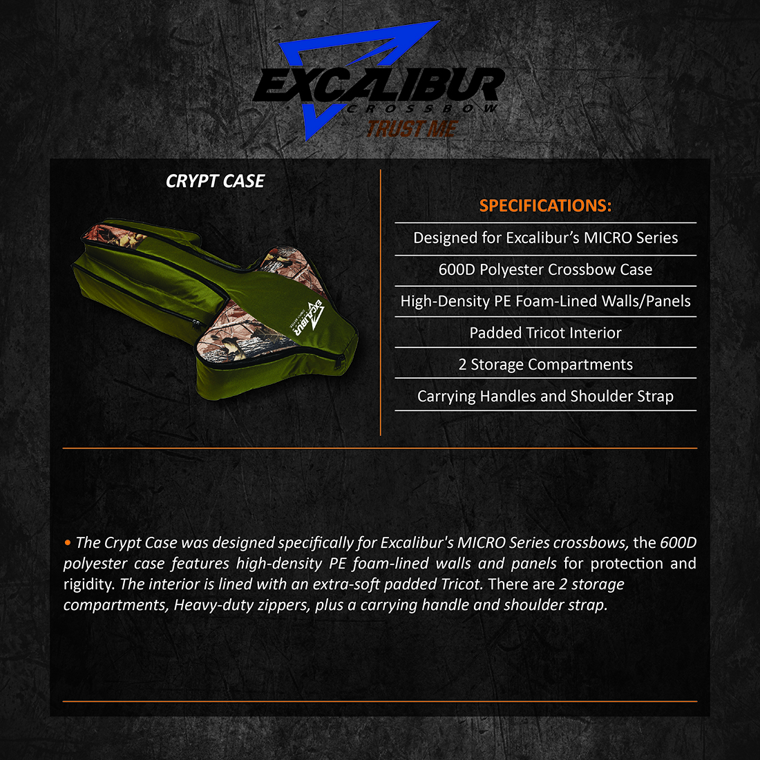 Excalibur_Crypt_Case_Product_Description