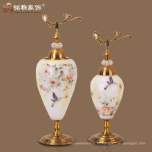 jarrón de cristal al por mayor con la tapa para la decoración casera en el precio de fábrica