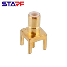 STA Straight 180degree SMB Male Through Hole PCB Mount connector Amphenol 142138 142136