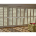 hot sale 89mm louver jalousie pvc sliding plantation shutter door from china
