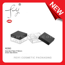 Stereo Square Maquiagem cosméticos Case Cosmetic Packaging Loose Powder