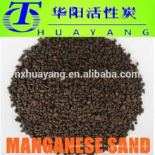 medios de filtro de agua arena de manganeso para H2S y eliminación de hierro
