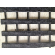 80 / 30kn Warp-Knitting PVC-beschichtetes Polyester-Geogrid
