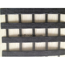 Geogrelha de poliéster revestida de urdidura do PVC de 80 / 30kn Warp-Knitting