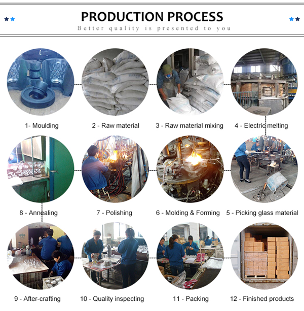 bubble blue glass cup production process