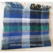Bufanda de lana de hombres a cuadros