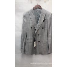 Итальянские двубортные модные мужские костюмы с V-образным вырезом
