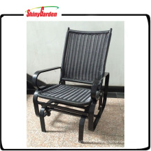 Aluminium Rattan Wicker Single Seat Glider Rocking Swing chair