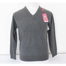 Yak Wool V Neck Pullover Long Sleeve Sweater/Garment/Clothes/Knitwear