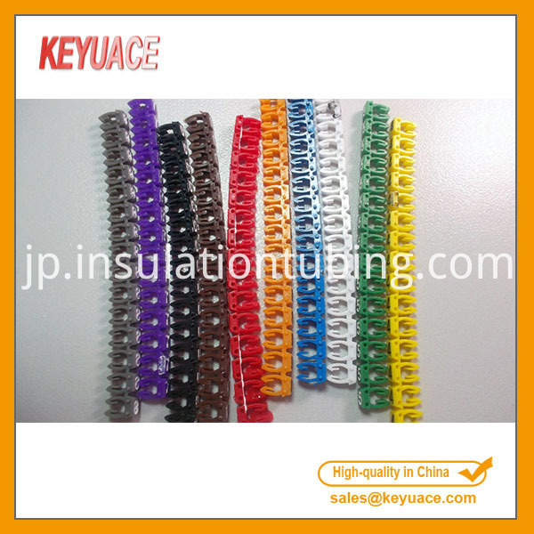 Colorful Plastic Clip on Cable Markers
