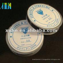 Corde de cordon élastique noire transparente de bobine ES01