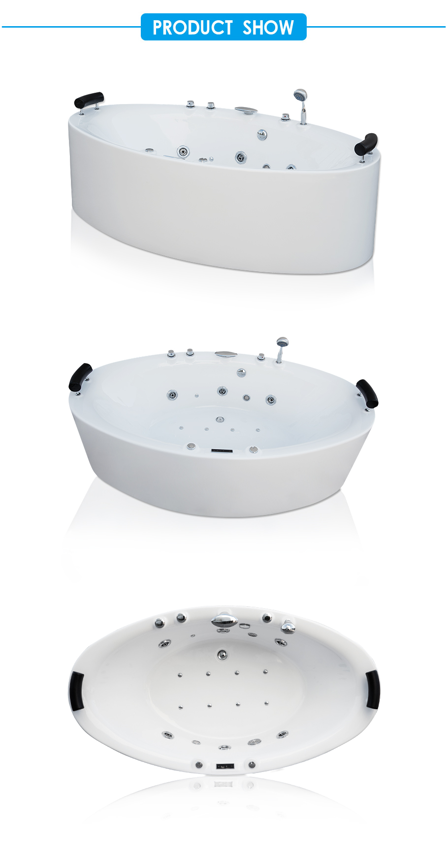 Lover Two Bathers Freestanding Whirlpool Bath Tub