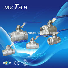 "1"" SS304/SS316 CF8/CF8M 2pcs female ball valve, 2-pc internal thread ball valve for water,oil and gas"