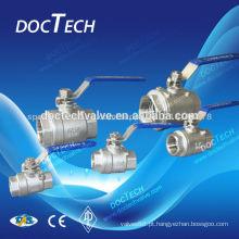 """2-way válvula de esfera rosca BSP/BSPT/NPT luz tipo flutuante válvula 1/4""""-4"""" DN6-DN100 venda quente 100WOG de China fornecedor"""