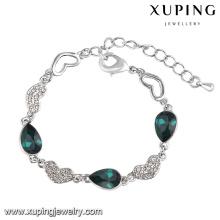 74566 Xuping Moda cristal de zircônia cúbica De Swarovski Jóias Pulseira em Rhodium-banhado