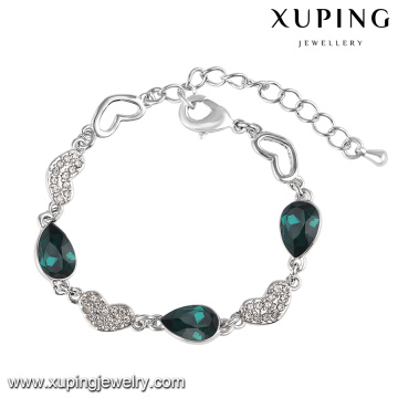 74566 Xuping Fashion Cubic Zirconia crystal From Swarovski Jewelry Bracelet in Rhodium-Plated