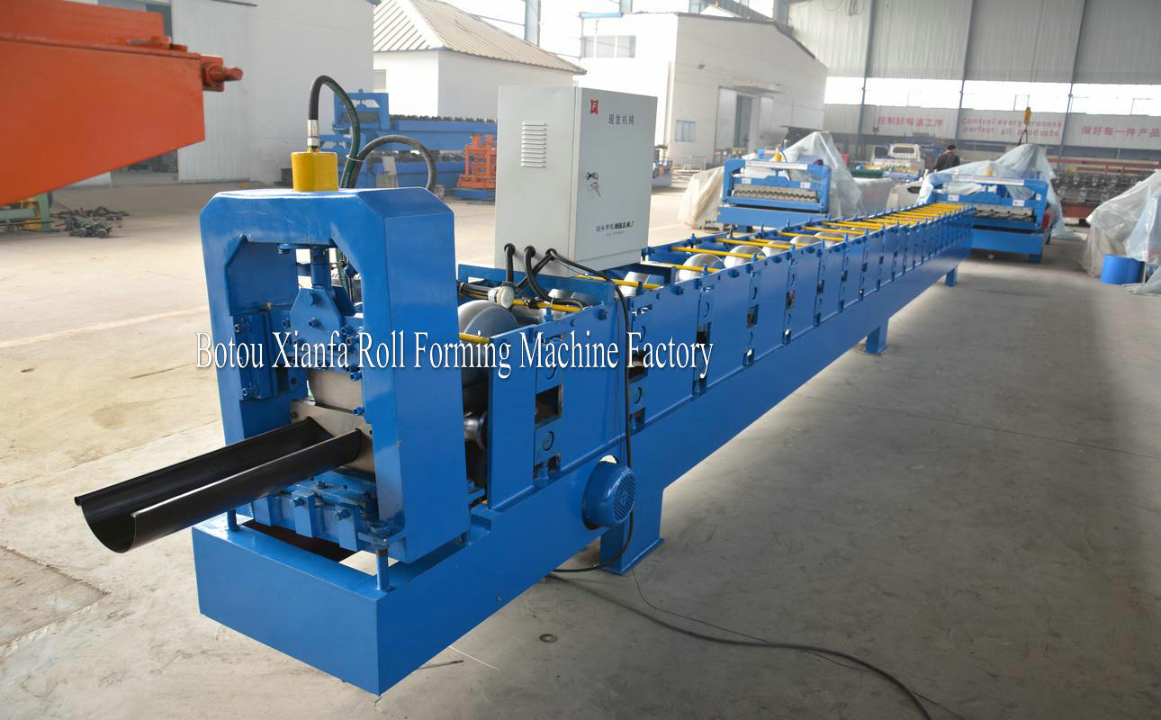 rain gutter making machine
