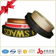 Hot sell custom nylon jacquard cotton elastic webbing tape