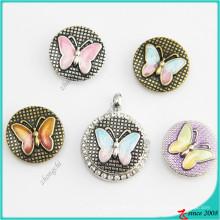 DIY jóias moda cavalo-marinho botão Snap encantos