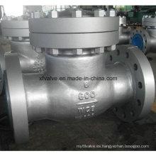 ANSI estándar de acero al carbono Wcb válvula de retención de brida